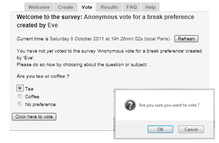 ADoodle org (Anonymous Votes)